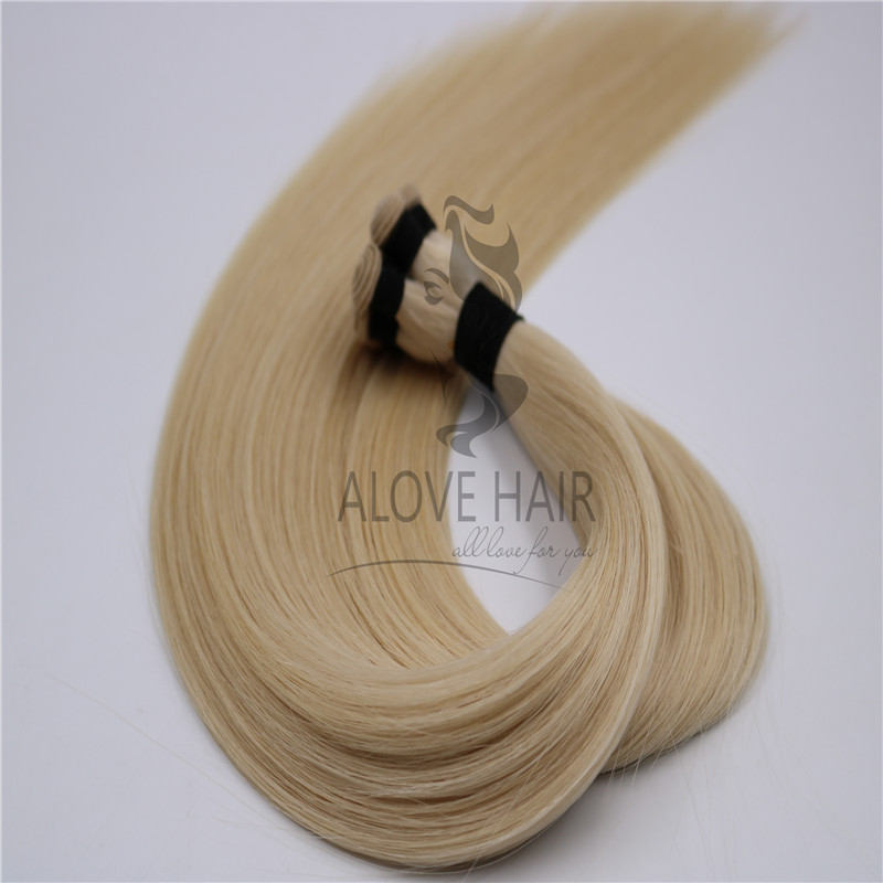 Blonde hand tied wefts