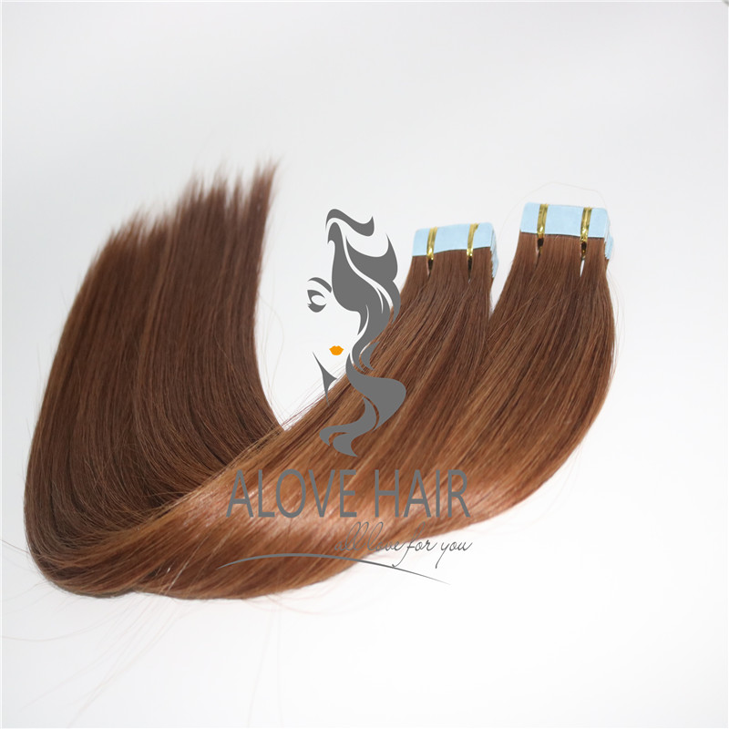 Buy 24 inch tape in hair extensions on short hair