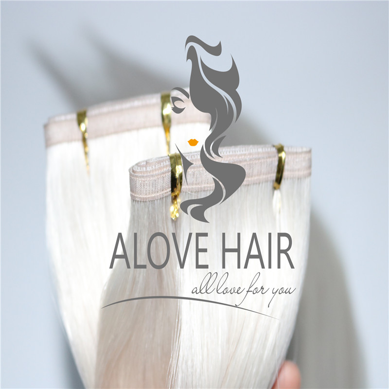 China Ash blonde #60A flat weft extensions vendor