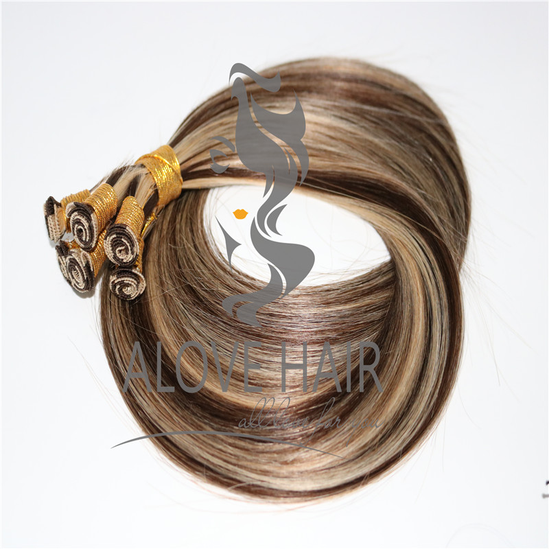 China cheap price piano color hand tied wefts vendor