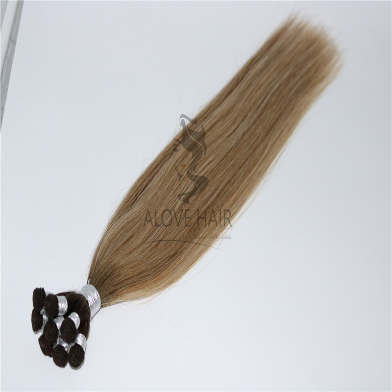 China hand sewn weft hair extensions manufacturer