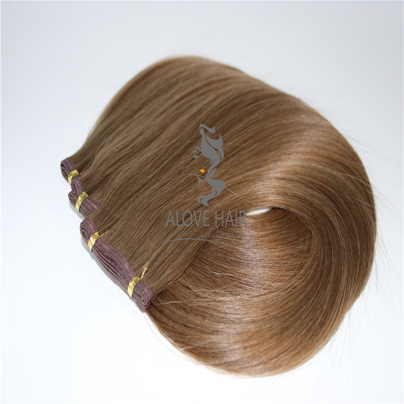 China cuticle intact super flat weft hair extensions manufacturer