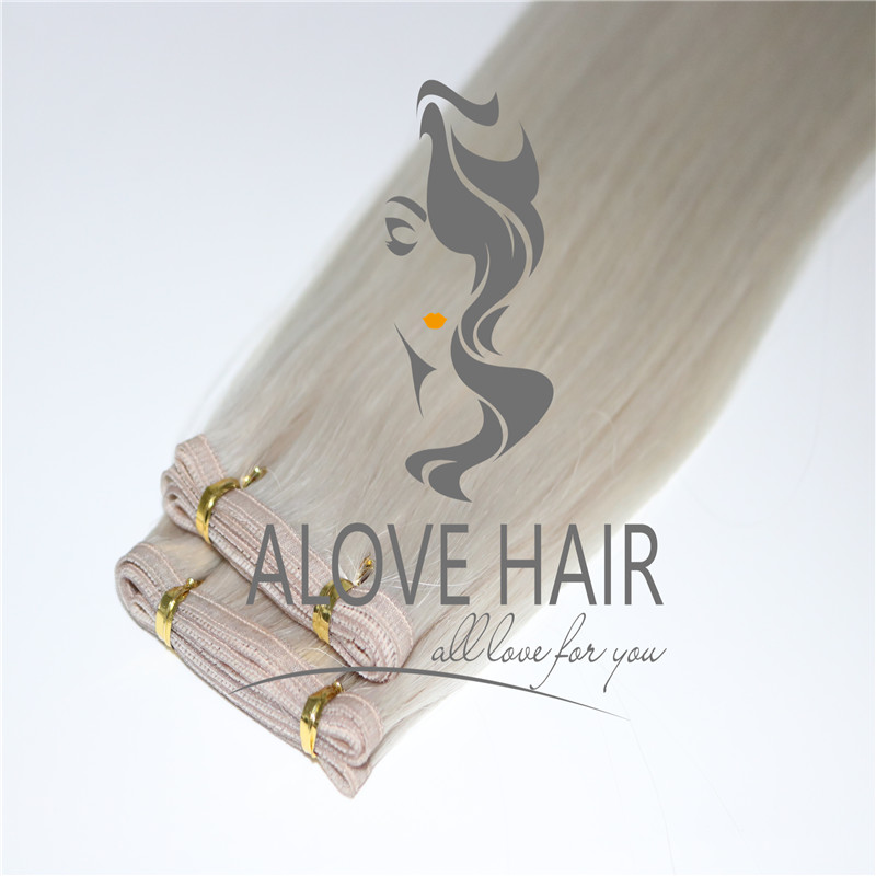 China super flat weft hair extensions supplier