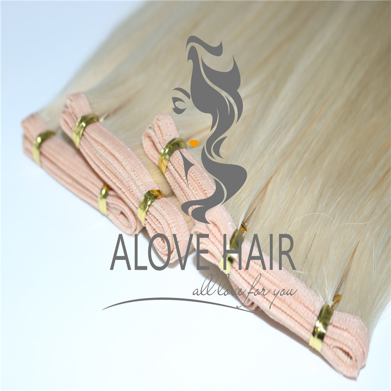 Cuticle intact flat track weft extensions wholesaler in China