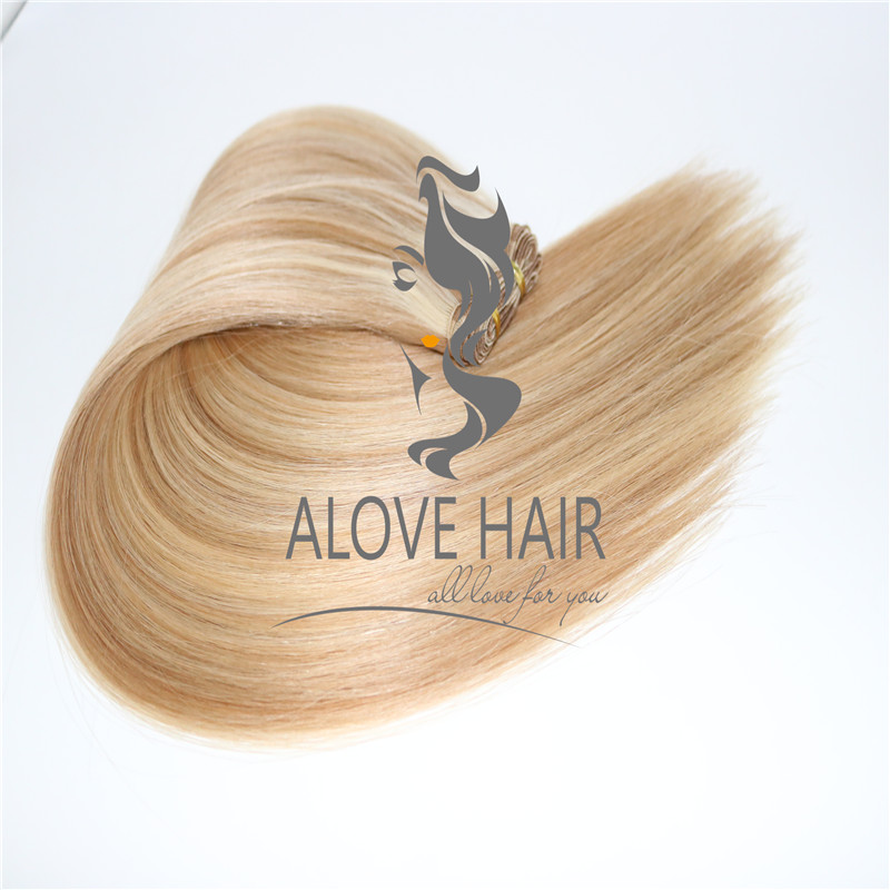 Cuticle intact hand tied human hair weft wholesale