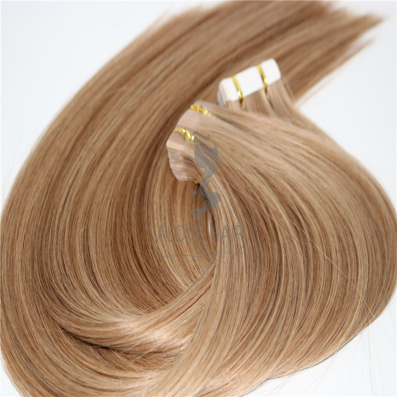 Cuticle intact remy affordable tape in extensions for thin hair