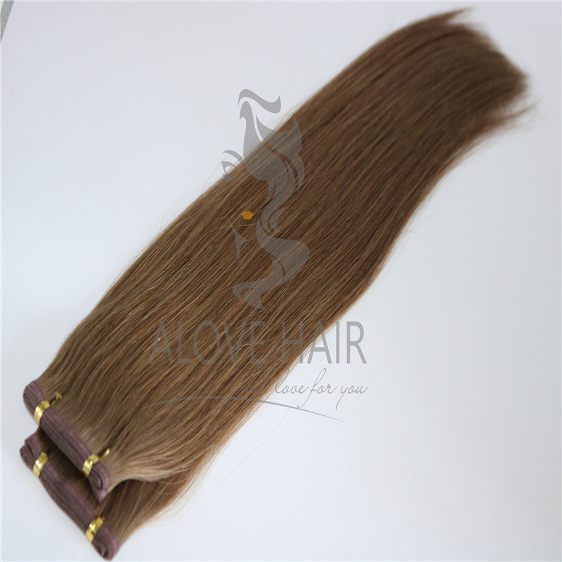 Cuticle intact remy seamless wefts hair extensions wholesaler in China