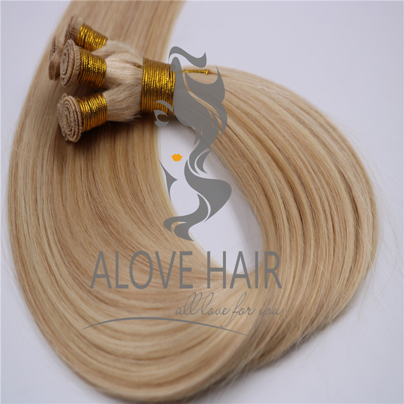 Double drawn hand tied hair extensions suppliers