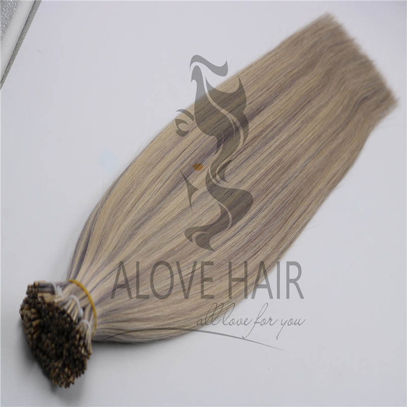 Double drawn i tip hair extensions wholesaler in China