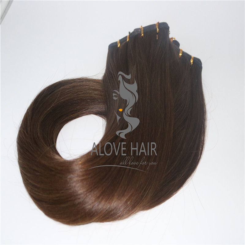 Full cuticle seamless weft extensions vendor in China