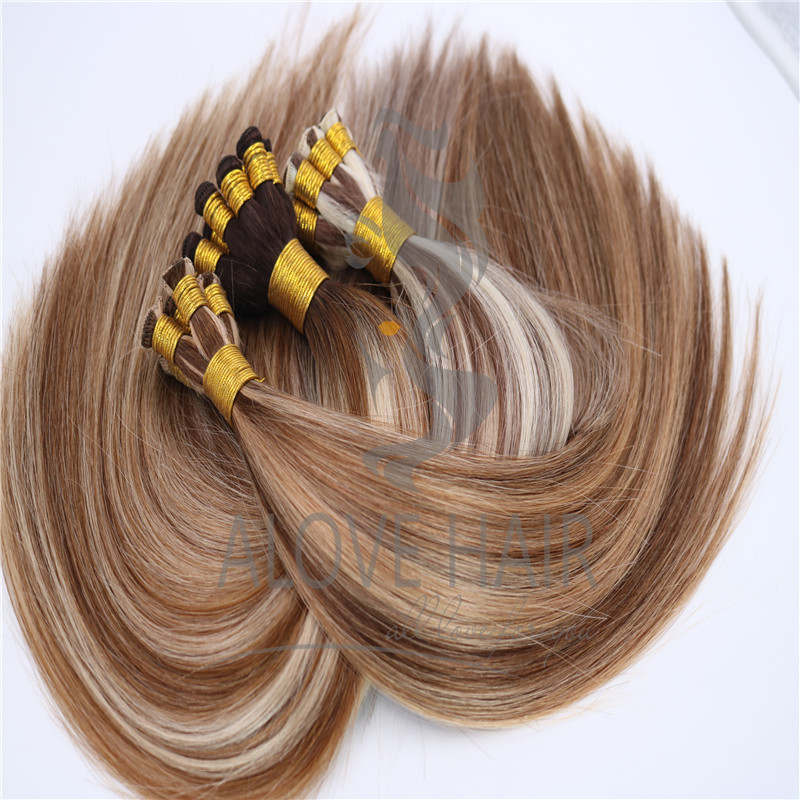 Full cuticle hand tied wefts for idaho hair stylist