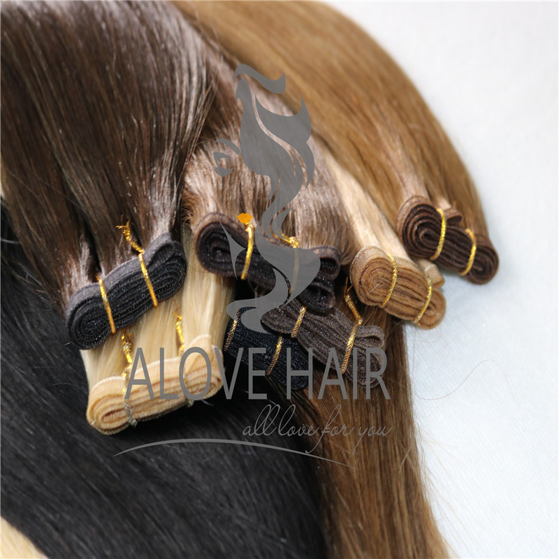 Full cuticle seamless skin weft hair extensions Canada