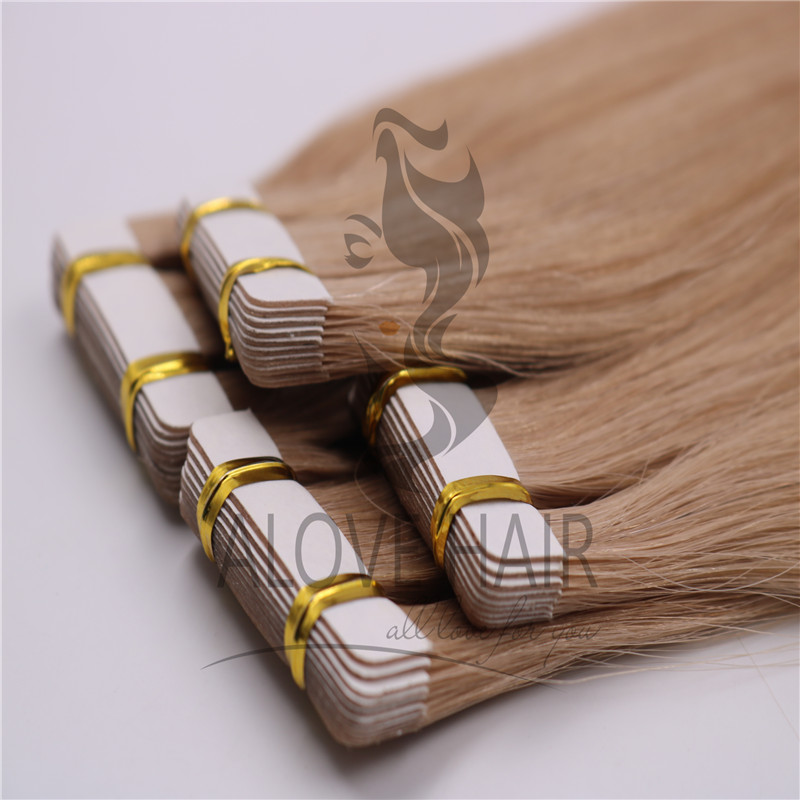 Full cuticle tape in hair extensions for thin hair