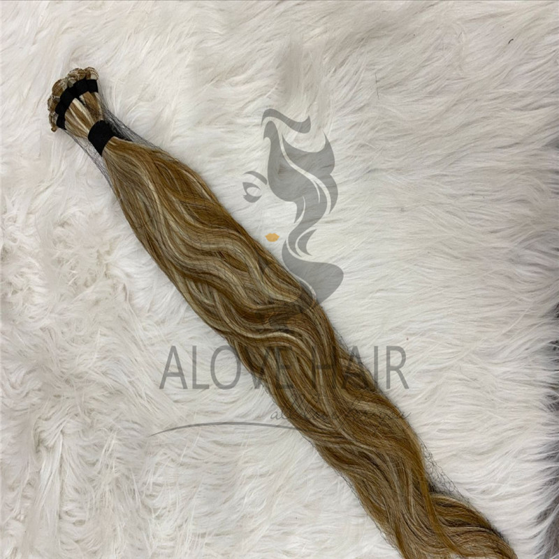 Full cuticle wavy hand tied exetensions