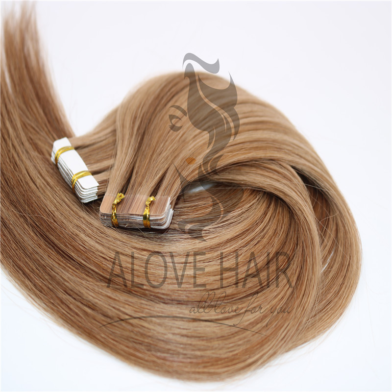 Great length different color tape in hair extensions for thin hair