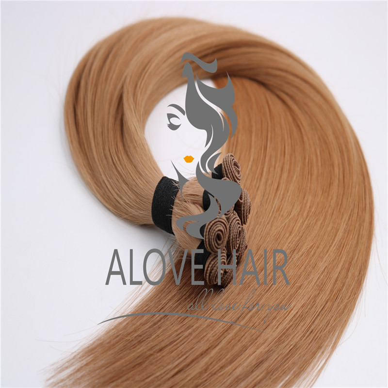 High quality cuticle intact hand tied extensions vendor in China