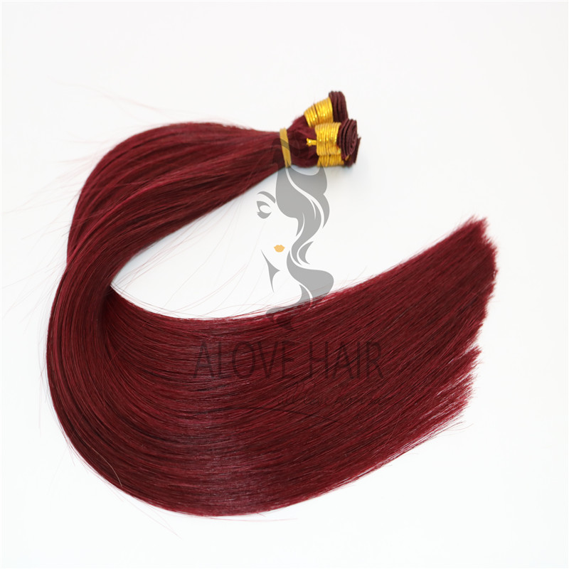 High quality handtied wefts hair extensions