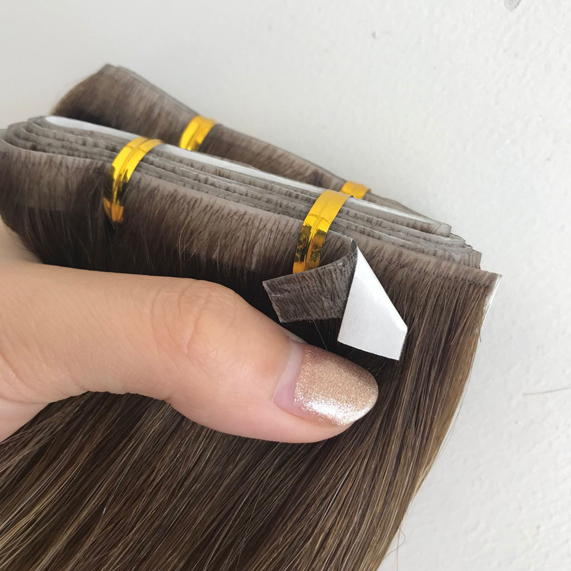 Piano color invisible tape hair extensions for sale