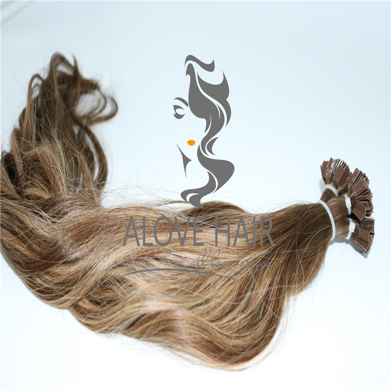 Keratin pre bonded v tip hair extensions wholesale