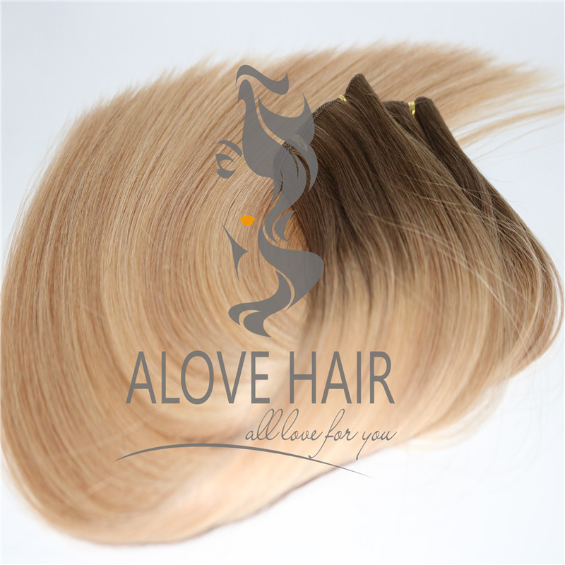Luxury hand tied hair extensions alberta