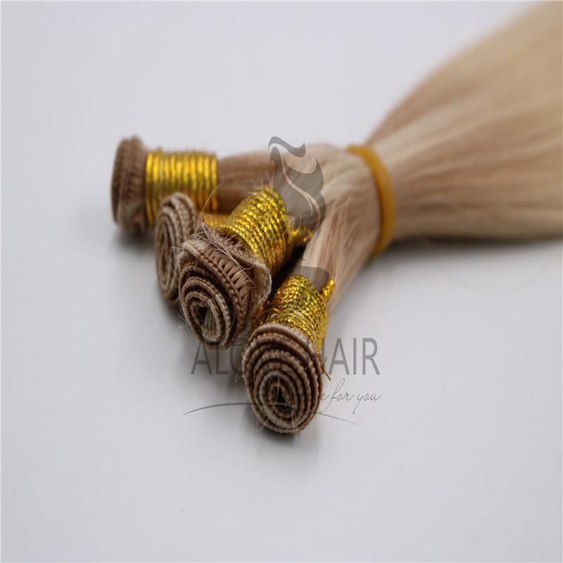 Remy hand tied hair extensions