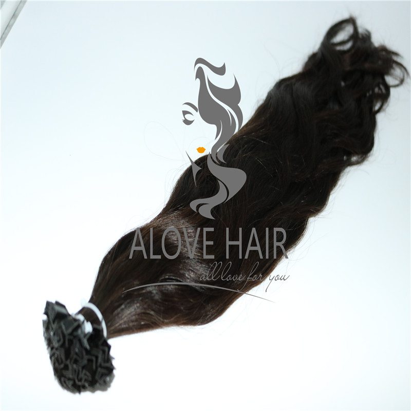 Remy pre bonded v tip hair extensions vendor in China