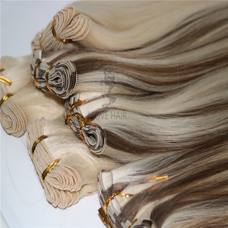Russian Mongolian beaded weft extensions