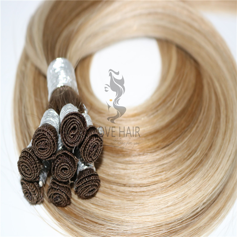 Russian Mngolian hand tied hair extensions