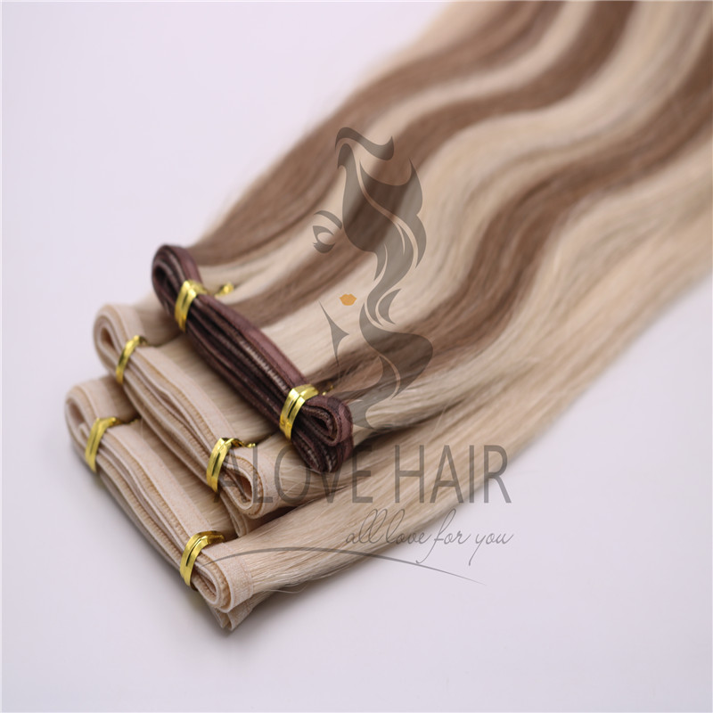Unprocessed seamless weft hair extensions vendor Nevada