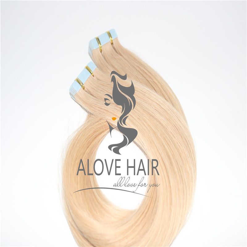 Wholesale great lengths blonde russian tape in  hair extensions