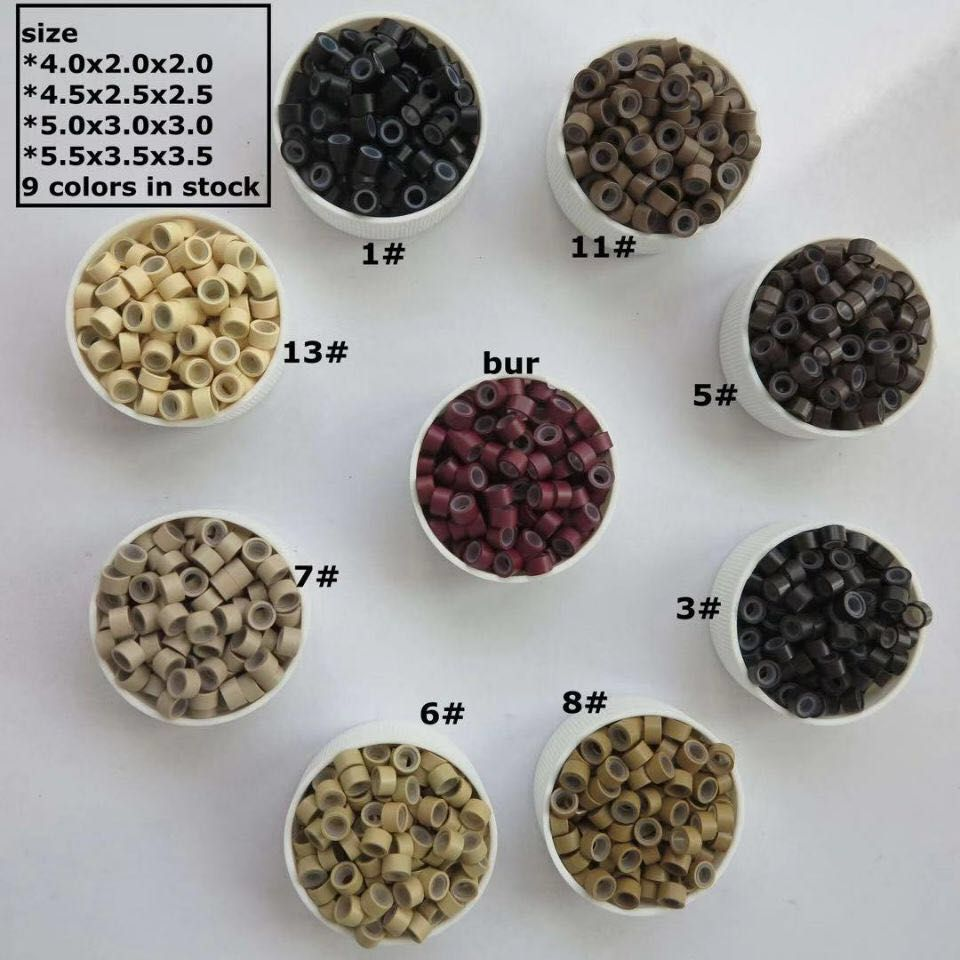 Wholesale human hair products 3mm micro beads