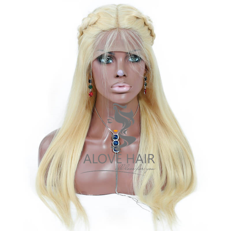 Wholesale blonde human hair full lace wigs