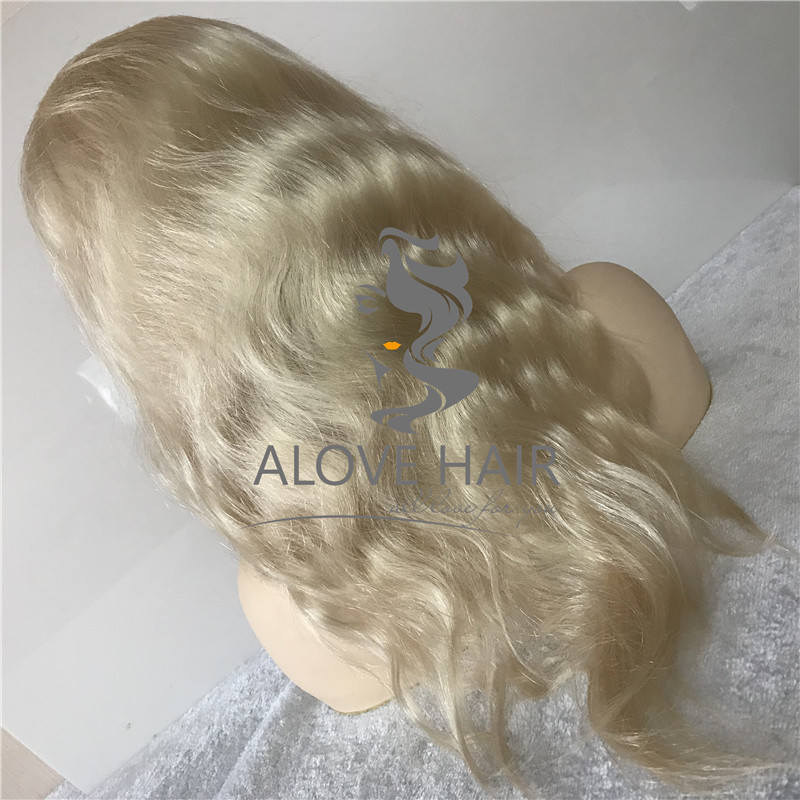 Wholesale cheap blonde human hair full lace wigs