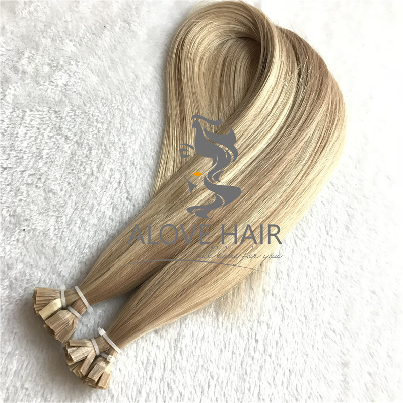 Wholesale cuticle intact flat tip hair extensions