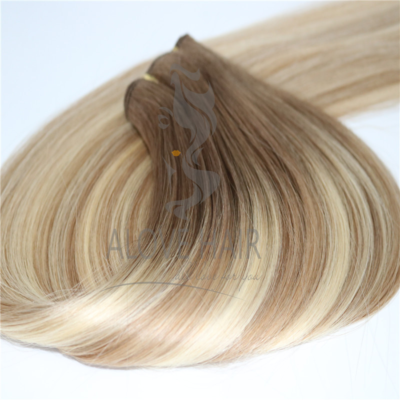Wholesale full cuticle hand tied hair extension to hand tied extension class