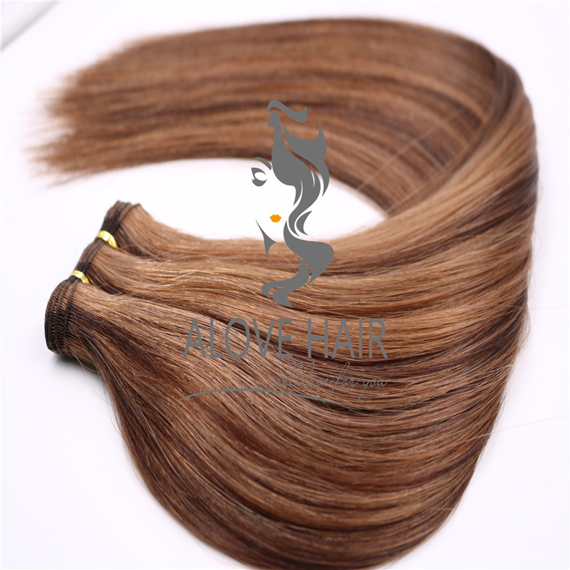 Wholesale hand tied weft extensions for hand tied education