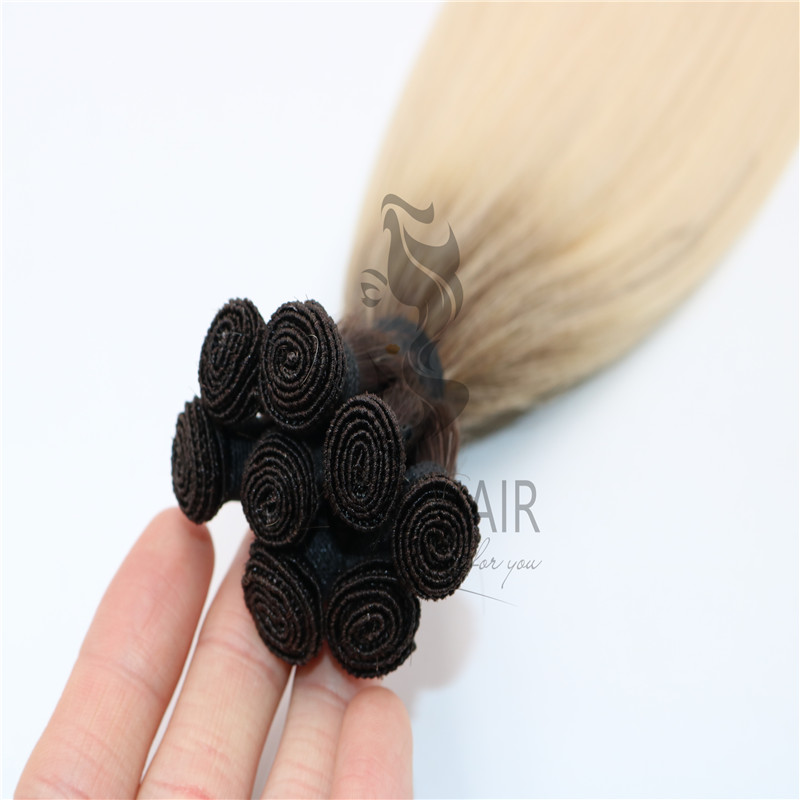 Wholesale high quality ombre hand tied hair extensions