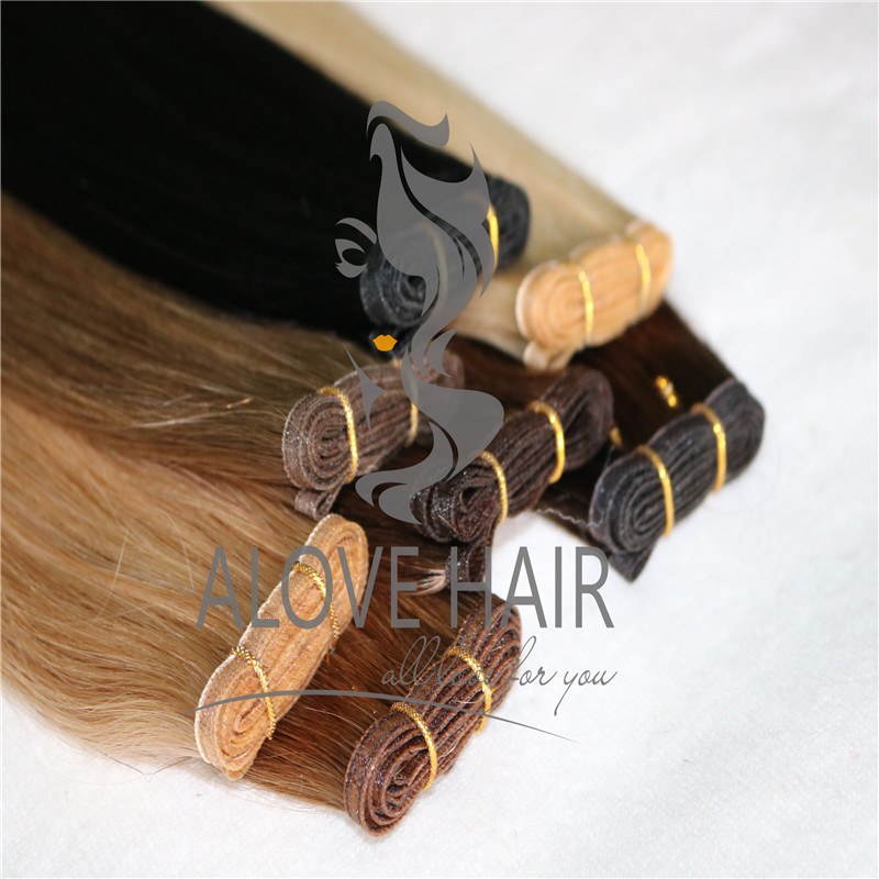 Wholesale no silicone hybrid hand tied wefts