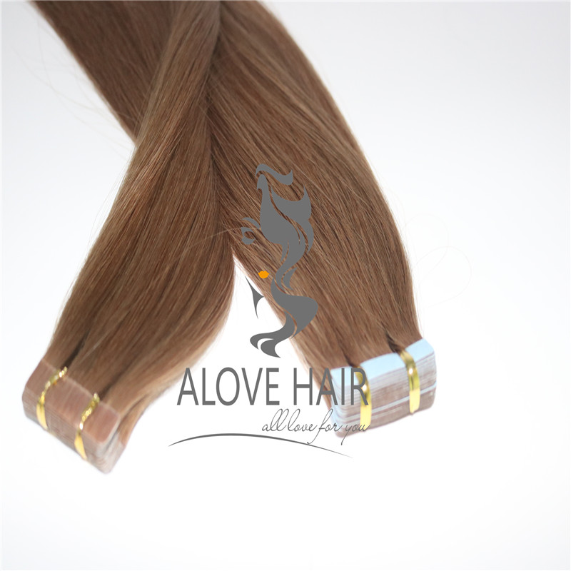 cheap 20 inch tape in hair extensions on short hair