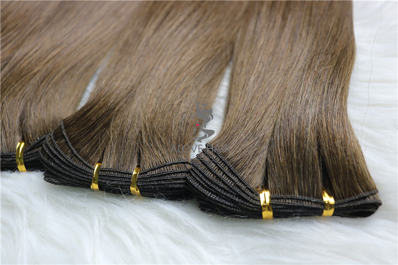 China mink hair factory best hand tied wefts