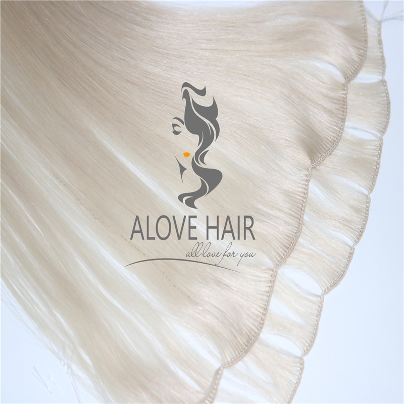 Wholesale best hand tied weft hair extensions with cut points