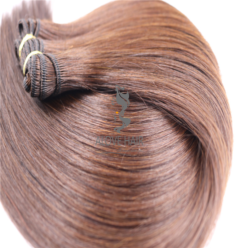 High quality cuticle intact machine weft hair extensions vendor