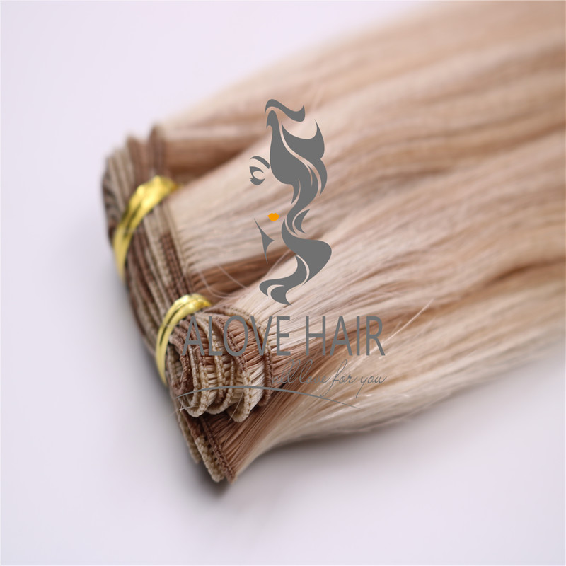 European hair hand tied extensions vendor in China