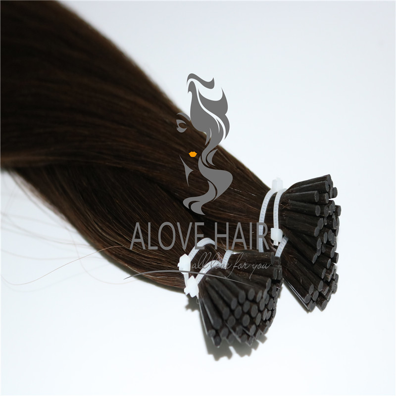 Full cuticle i tip hair extensions wholesale