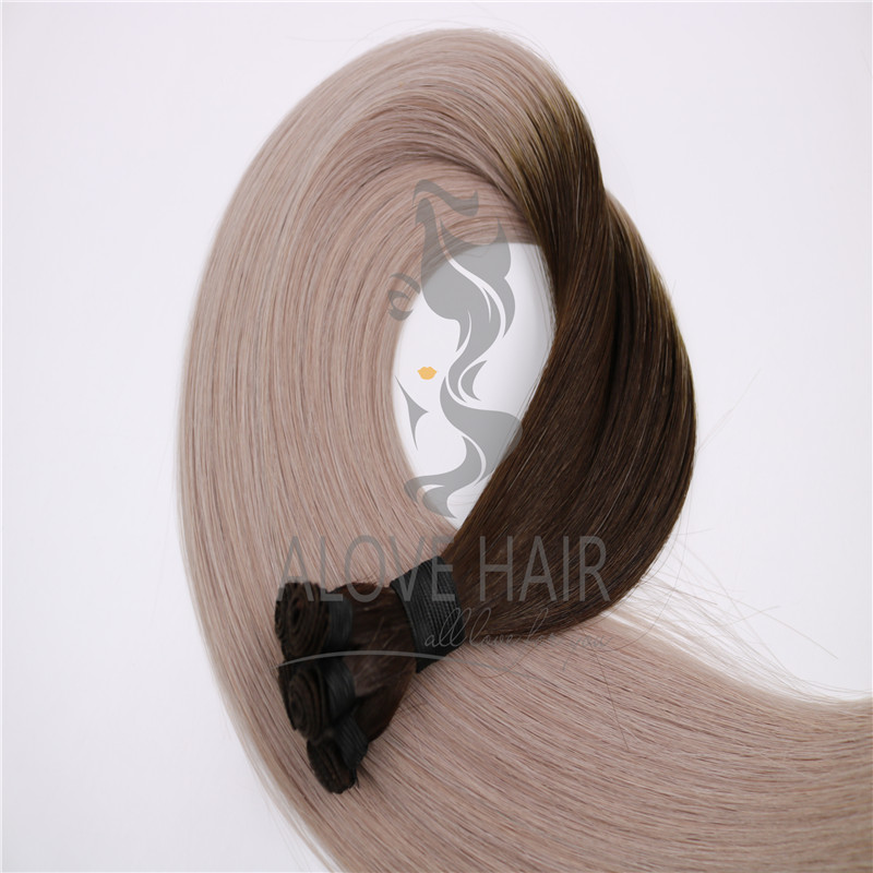 High quality ombre color hand tied wefts vendor in China