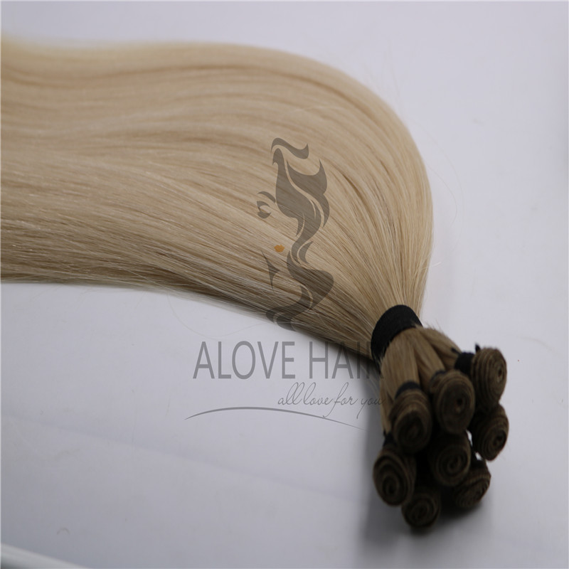 Ombre hand tied hair extensions