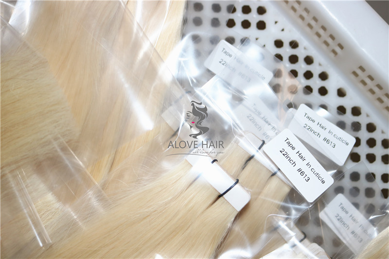 wholesale tape in extensions on short hair