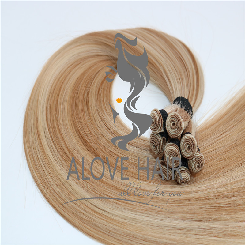 Best quality cuticle intact hand tied wefts for Canada hair salon