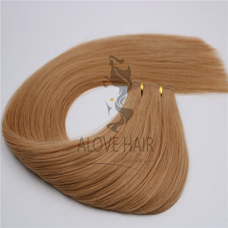 Best quality hand tied wefts for USA hair salon and wholesaler