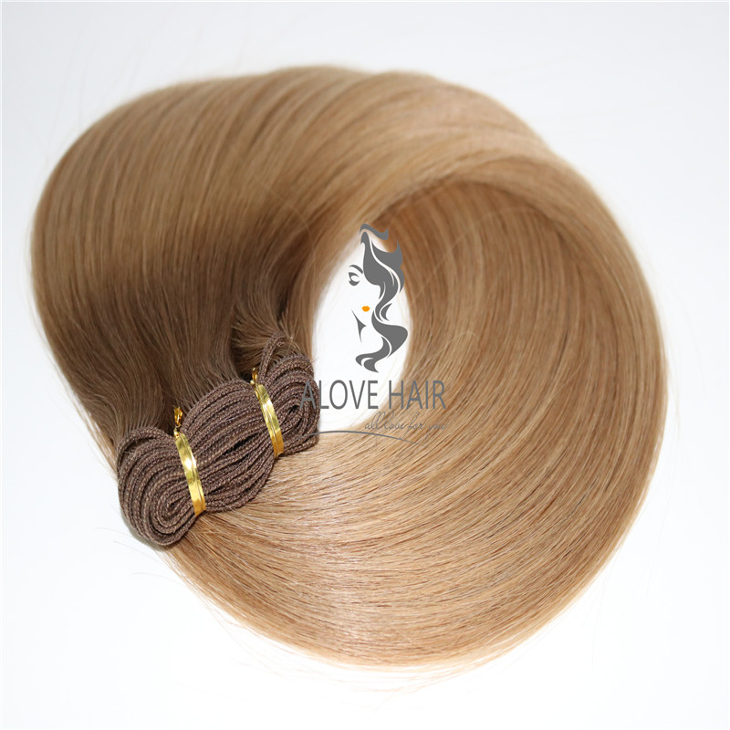 China machine weft hair extensions manufacturer